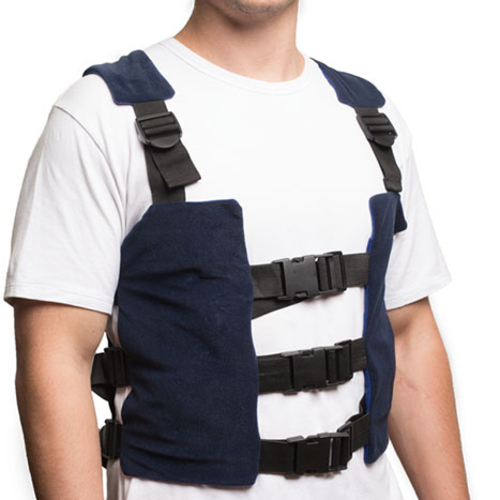 strap on this calorie burning vest and cool off