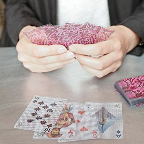 pixellated playing cards to make game night just a bit more interesting