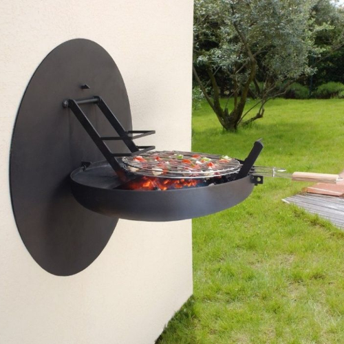 wall mounted bbq grill pull out or hide it away