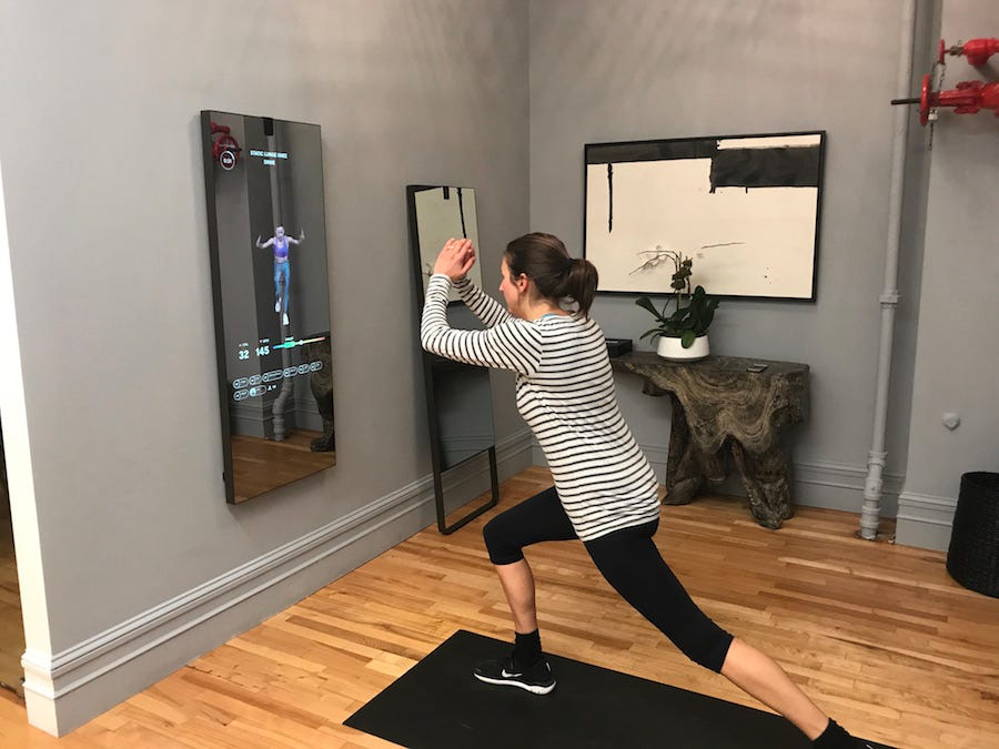 A mirror for your home that's a mirror when it's off and a screen for any number of workouts when on