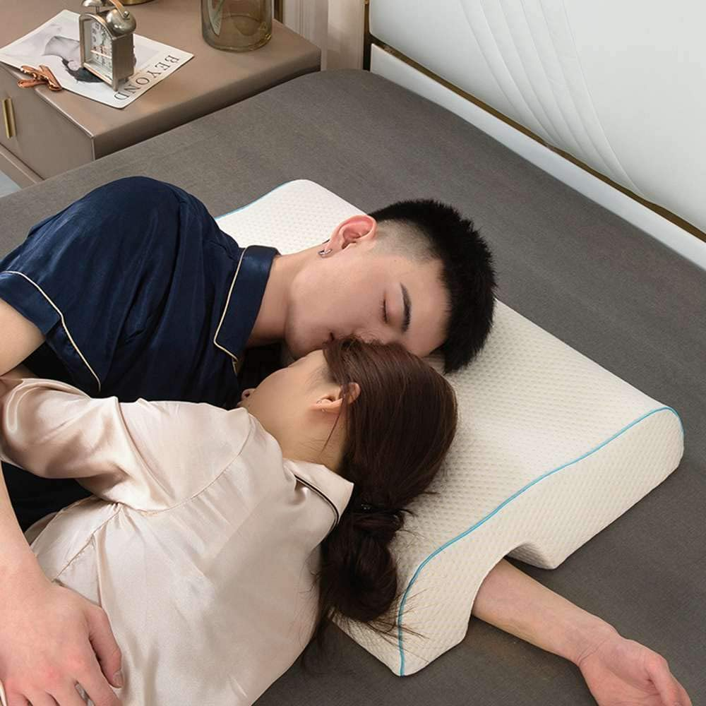 get close, cuddle with this cuddle pillow made for couples