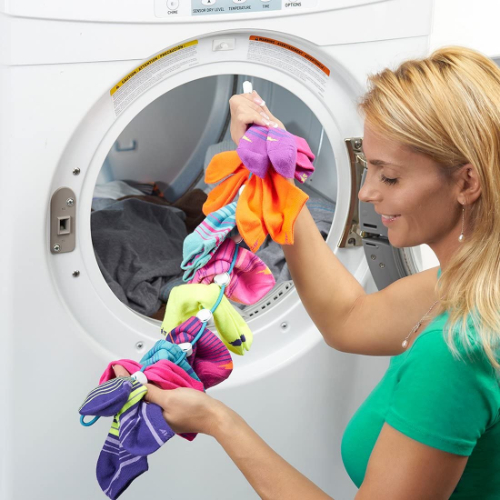 laundry organizer keep socks in pairs when you wash and dry, never lose a sock